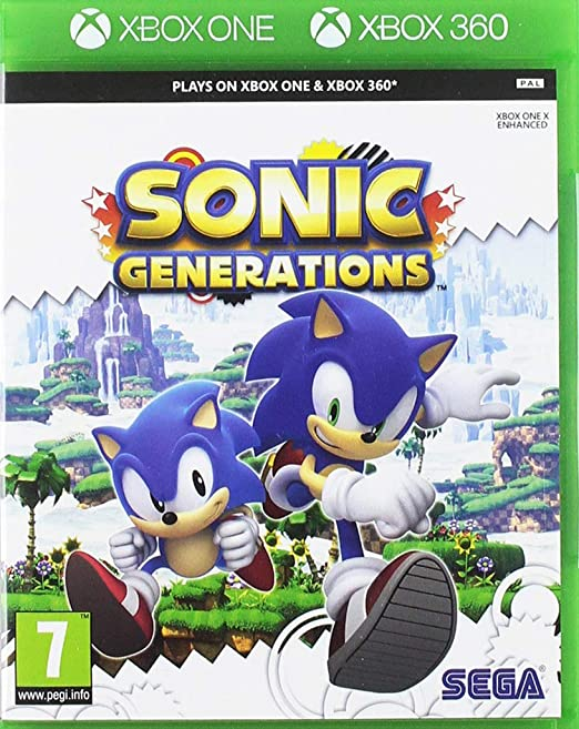 Amazon Com Sonic Generations Classics Xbox 360 Video Games