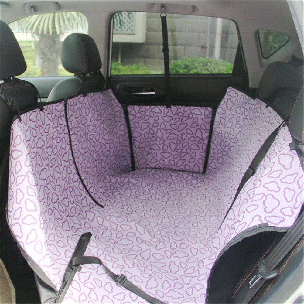 Purple blueMoo Waterproof Pet Dog Cat Hammock Blanket Cover Mat Rear Back Seat Car Predector (Purple)