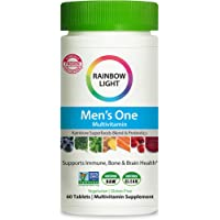 Rainbow Light Men's One Daily High Potency Multivitamin for Immune Support with Vitamin C, D & Zinc, 60 Tablets, Non-GMO…