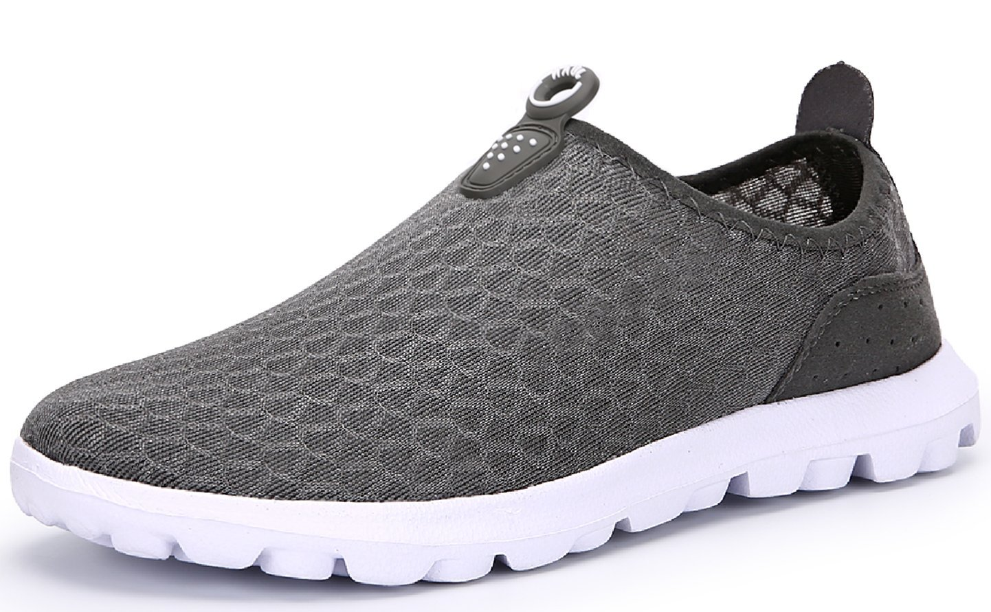 JUAN Men's New Light Weight Go Easy Mesh Walking Shoes Casual Athletic Comfortable Running Sneakers (45 M EU / 11 D(M) US, Grey)