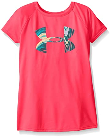 under armour shirts for girls. under armour girls\u0027 big logo t-shirt, harmony red (964), shirts for girls