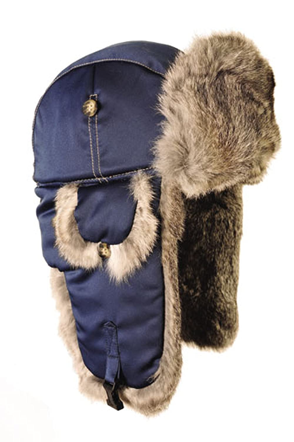 Mad Bomber Supplex Hat with Fur 304BLK-P