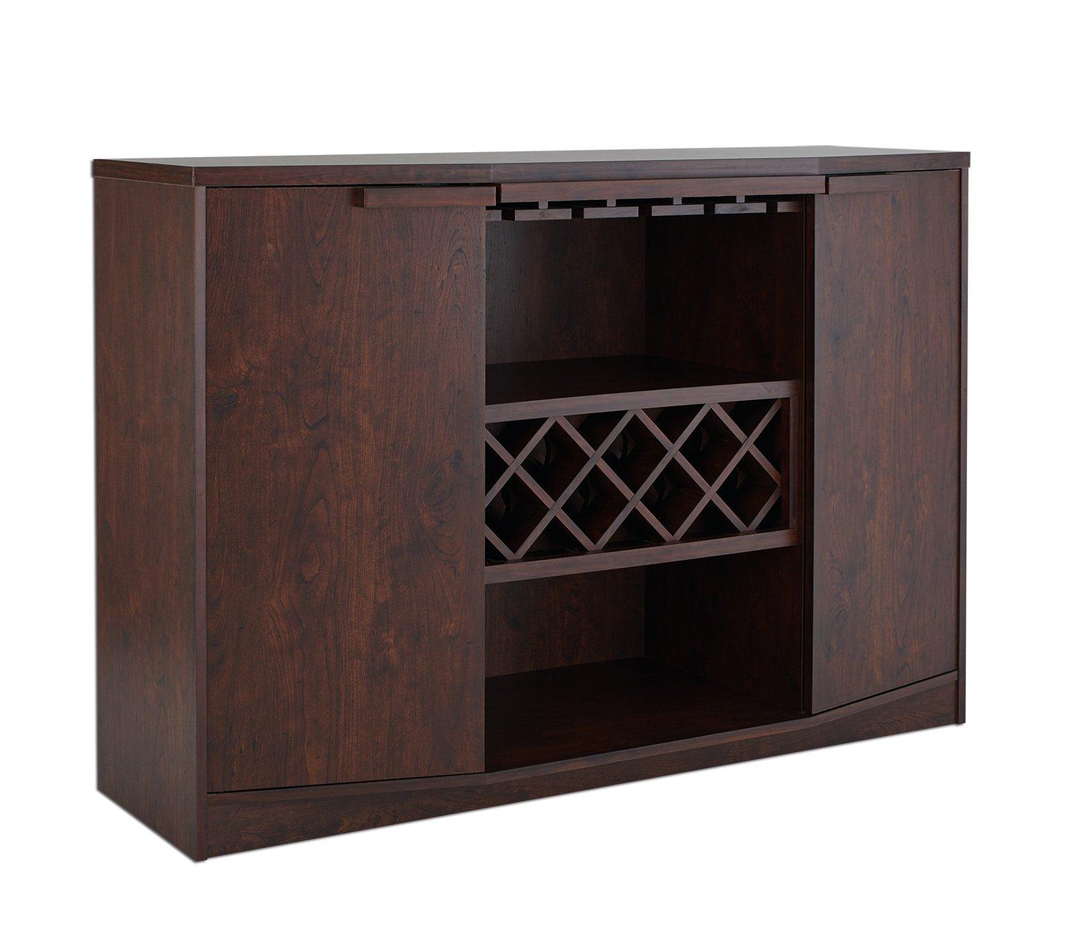 ioHOMES Annadel Wine Cabinet Buffet, Vintage Walnut