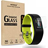 (Pack of 4) Tempered Glass Screen Protector for Garmin Vivosport, Akwox [0.3mm 2.5D High Definition 9H] Premium Clear…