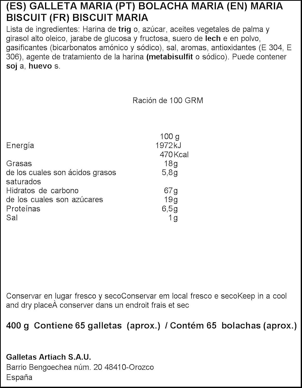 Artiach - Galletas Marbu Dorada 400 g: Amazon.es: Alimentación y ...