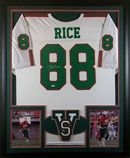 best service 2132e 0f8ab Jerry Rice Mississippi Valley State Delta Devils Signed ...