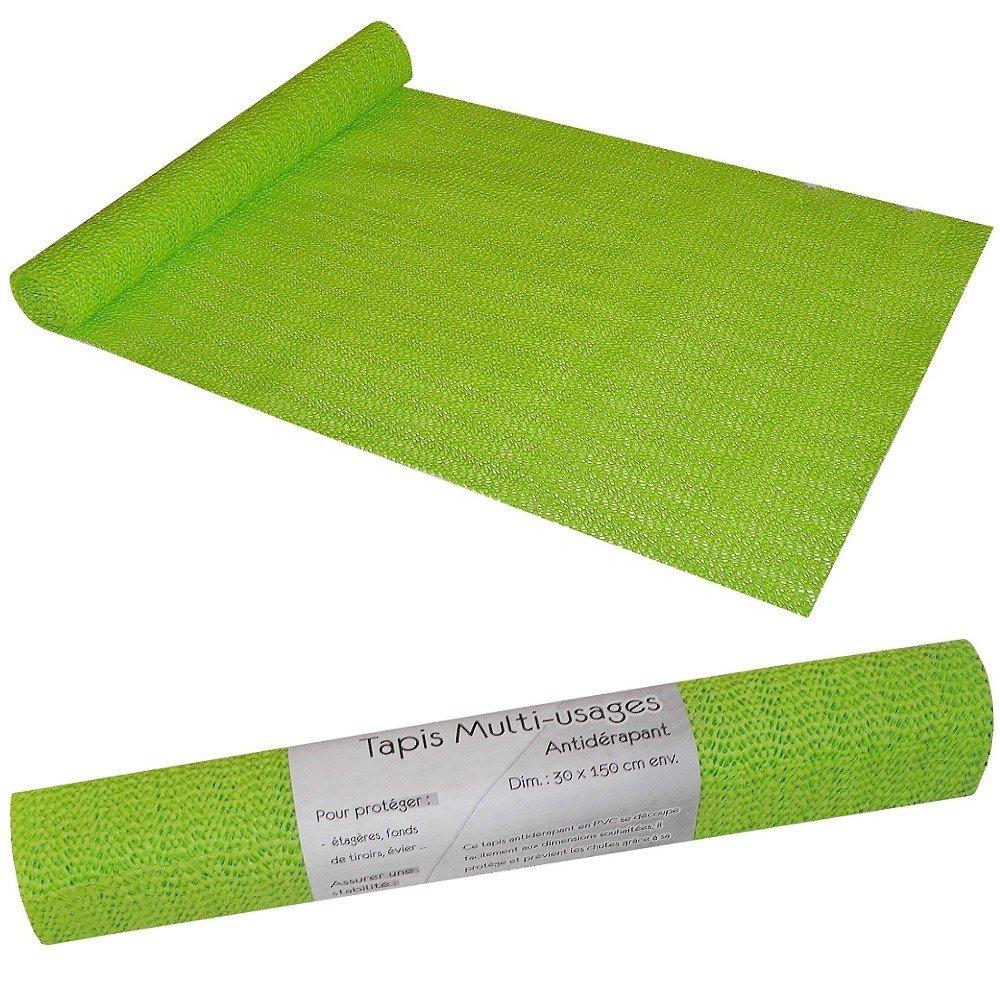 tapis juicy antidrapant protection meuble tiroir 30x150cm vert amazonfr cuisine maison - Tapis Antiderapant