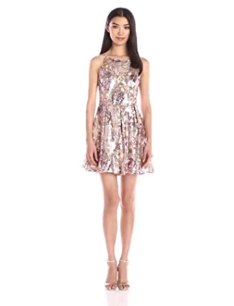 467edcaa Amazon.com: Glamorous Women's Sequin Fit and Flare Dress: Clothing