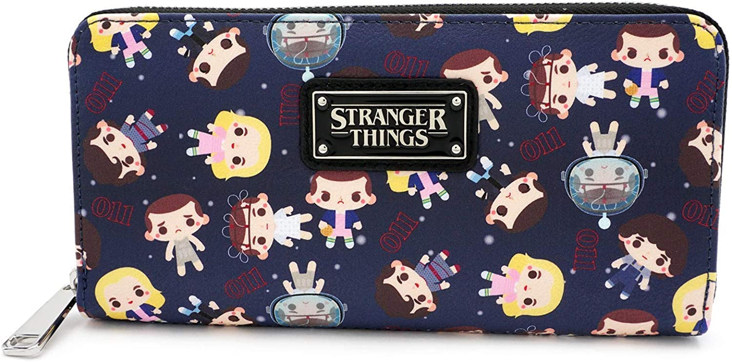 Loungefly x Stranger Things Eleven All-Over Print Zip-Around Wallet
