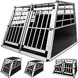 Alu Hundetransportbox Auto Transportbox Gitterbox Hundebox Hundekäfigin verschiedenen Größen
