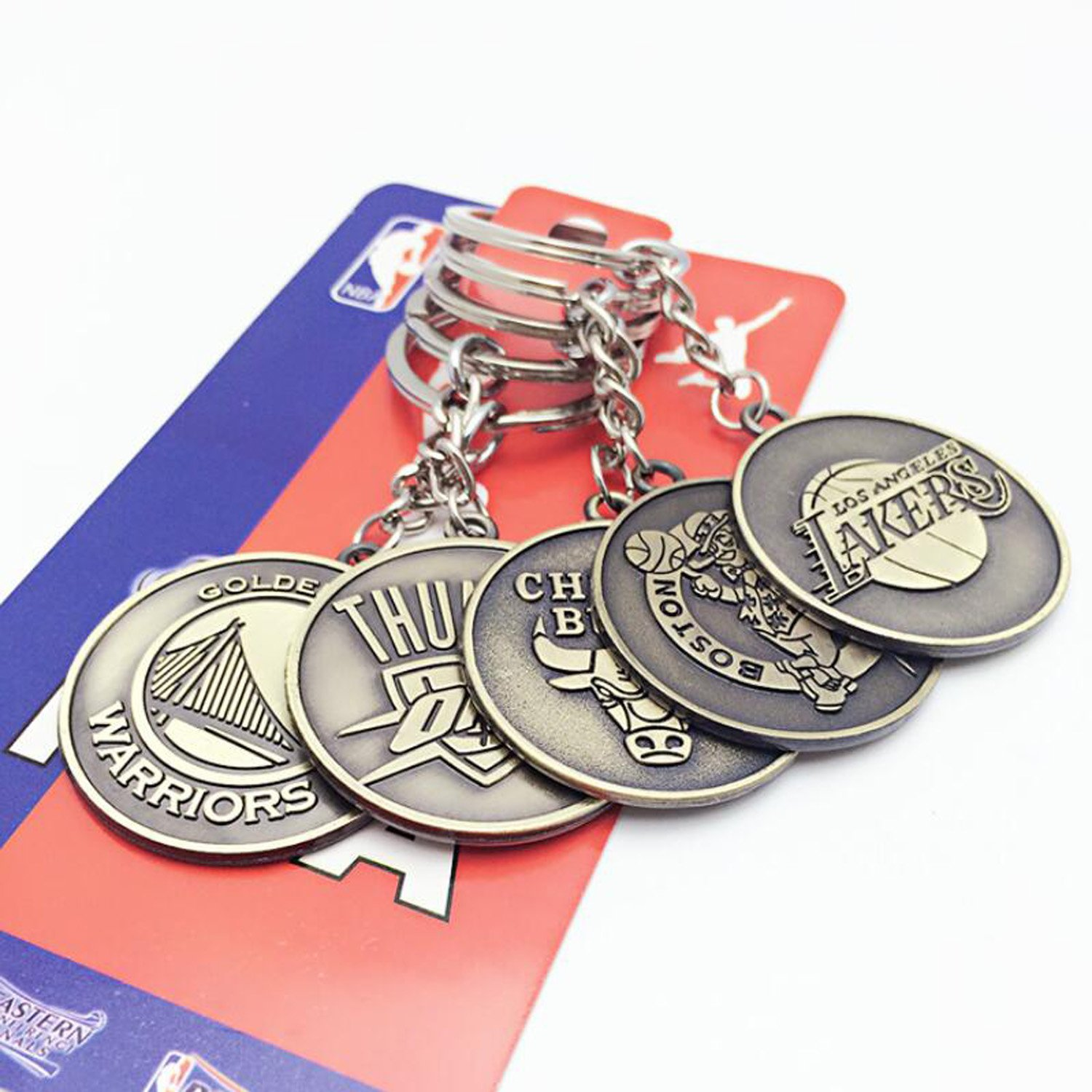 wotoy Alloy Keychain Key Ring Basketball Souvenir for Fans