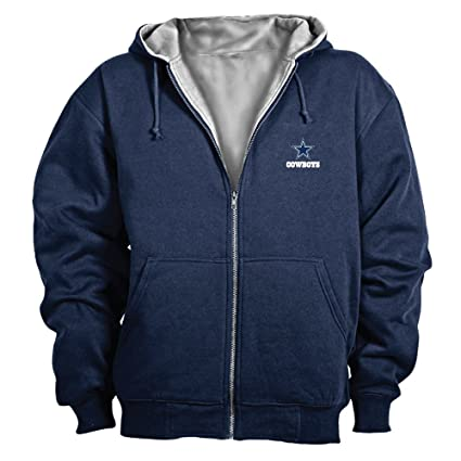 buy online 2f537 2f51c Dallas Cowboys Jacket: Navy Reebok Hooded Craftsman Jacket