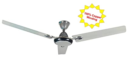 Buy candes futura 1200 mm copper ceiling fan 48 inch silver blue candes futura 1200 mm copper ceiling fan 48 inch silver blue 100 copper winding aloadofball Gallery