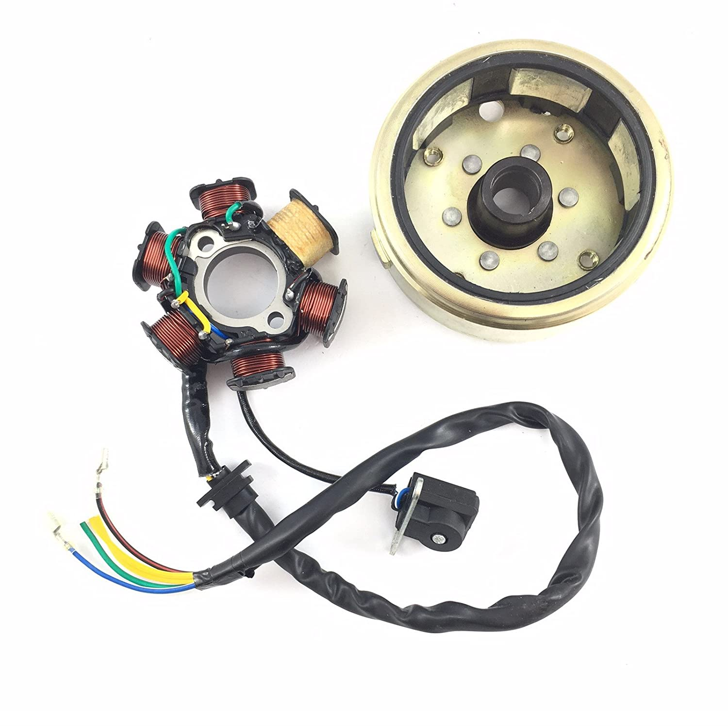 Dc Magneto Stator Flywheel 125 150cc 152qm1 157qmj 6 China Made Atv Wiring Coil D Gy6 Chinese Scooter Moped Quad Go Kart 4 Stroke Taotao Peace Tank Jonway