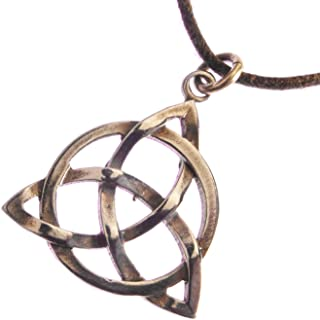 product image for Delicate Celtic Trinity Knot Peace Bronze Pendant Necklace on Adjustable Natural Fiber Cord