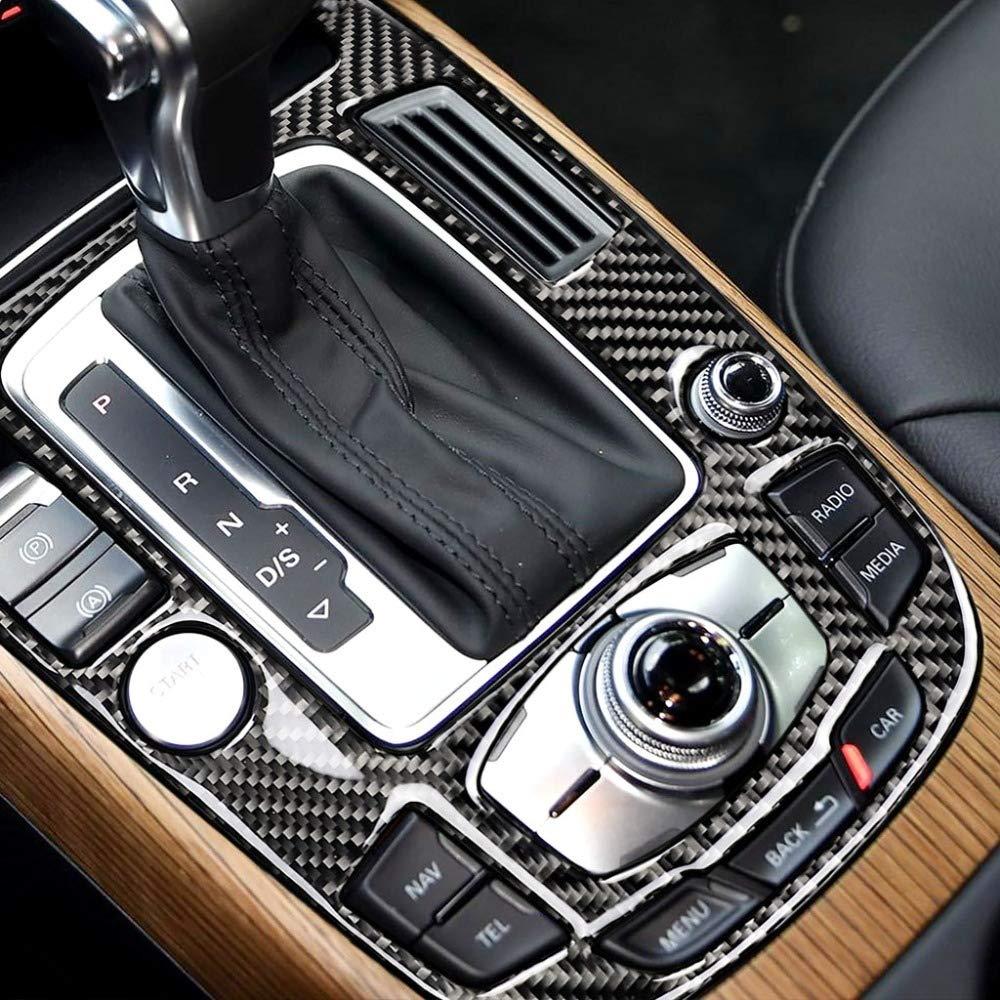 Q5 2010 2018 Gnnlor Enjoliveur de Cadre de Panneau de Commande de Vitesse de Console Centrale en Fibre de Carbone pour Audi A4L A5 2009 2010 2011 2012 2013 2016 2016