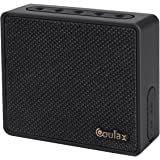 COULAX Wireless Bluetooth V4.0 Mini Cuber Speakers, Powerful Sound with Enhanced Bass, Waterproof, 8 Hours playtime, Handsfrees, Black