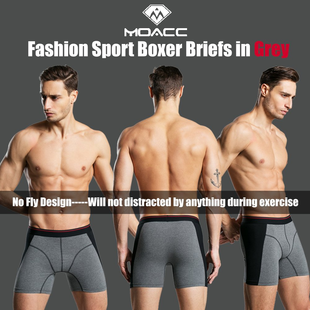 Mens Underwear Breathable Boxer Briefs 4 Pack Soft Cotton Shorts Underware Man No Ride-up Small(Tag Asian XL)