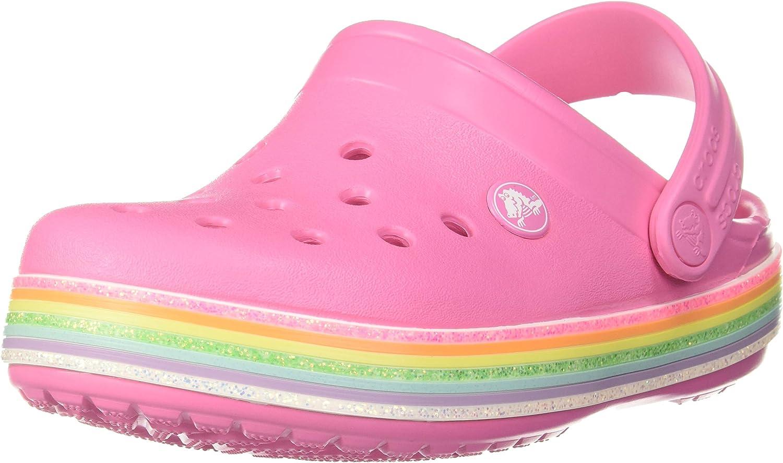Crocband Rainbow Glitter Clog|Slip On