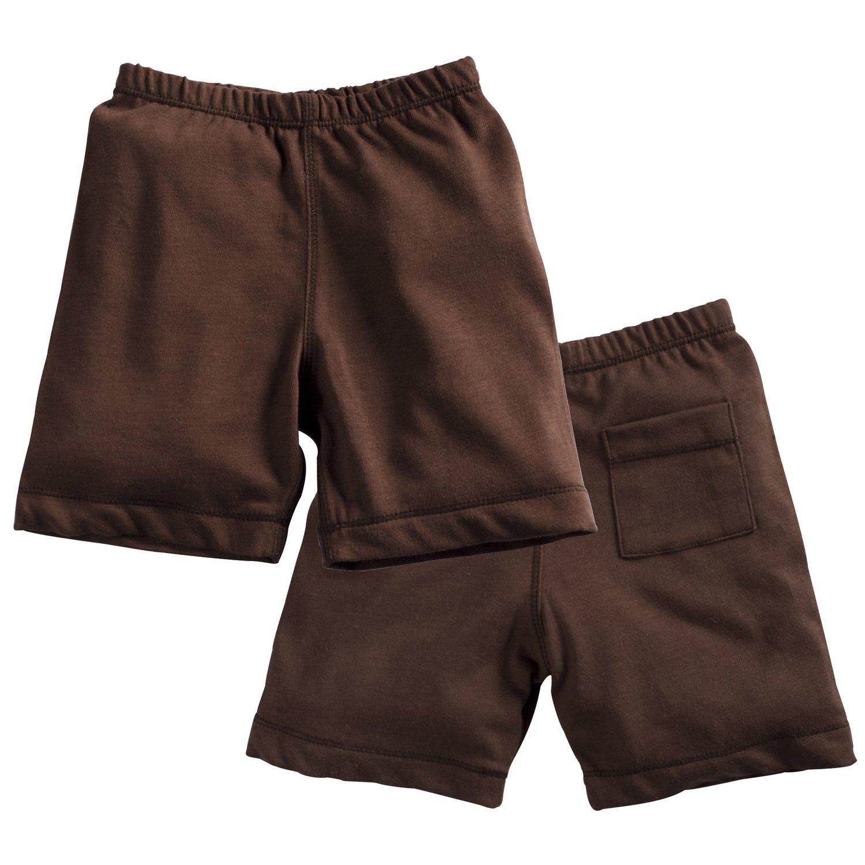 Babysoy Comfy Basic Lounge Wear Shorts (Chocolate, 6-12 Months)