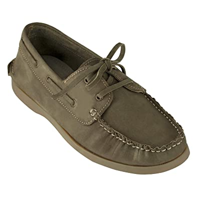 5c8672812f3b tZaro Genuine Leather Olive Boat Shoes - Timber  Buy Online at Low Prices  in India - Amazon.in