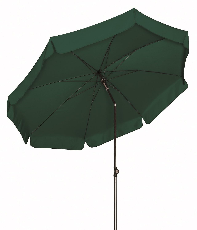 Absolut wetterfester Gartenschirm Sun Line III 200 von Doppler mit UV-Schutz 50 Plus, Farbe dunkelgrün