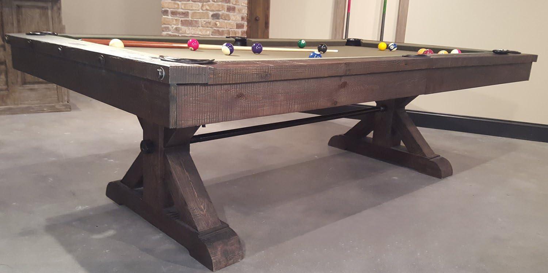 Pool table for modern living room design