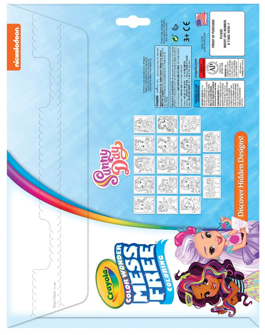 5 Age 3 Crayola Color Wonder Sunny Day Coloring Pages 6 Toy 75-7001 Mess for Kids 4