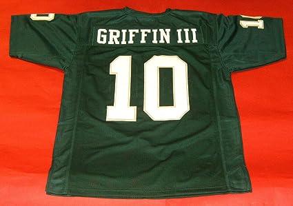 Amazon.com: ROBERT GRIFFIN III GREEN BAYLOR CUSTOM STITCHED NEW ...