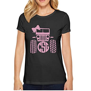 4c9267f5 xs4tdg563kfu Csg Bow Tie Racing Pink Girl SUV Womens Short Sleeve T-Shirt  Cute Printed