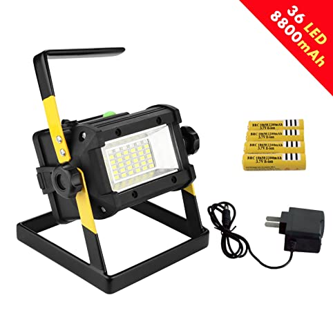 qooltek 36 led flood light outdoors camping emergency lights portable led work light builtin