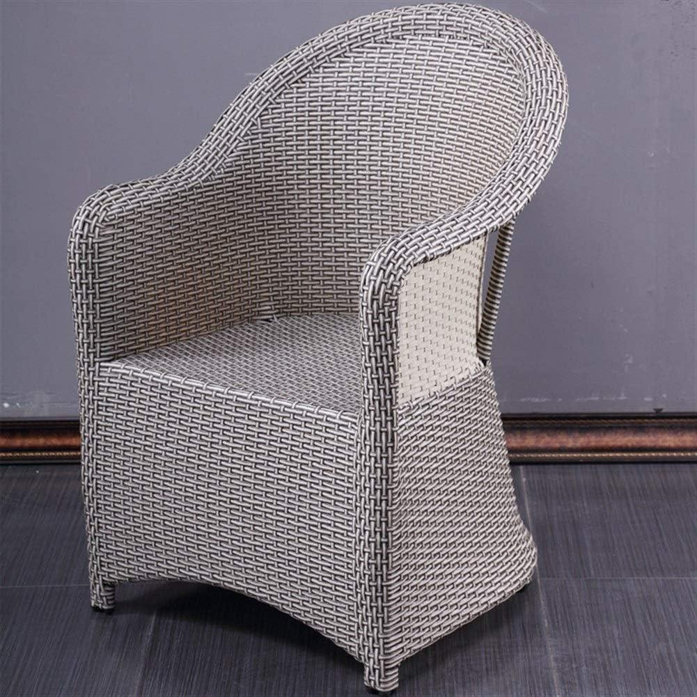 QQXX Outdoor Rattan Armchair, Hotel Restaurant, Furniture Wicker Chair, Bar/Courtyard/Imitation Rattan Chair Home Furniture (Size : 52x64x88cm)