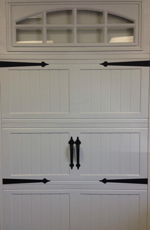 (GARRAG) Garage Door Deluxe Decorative Hardware Kit - Hinges & Handles - Includes Screws