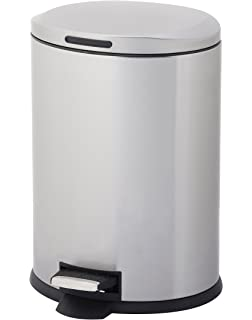 homezone 12liter stainless steel oval step trash can