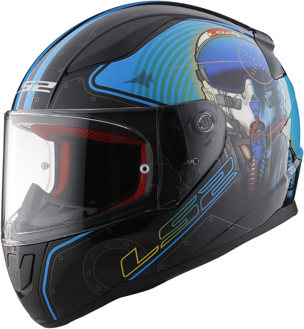 LS2 Helmets Stream//Rapid Scratch Resistant Visor Chrome