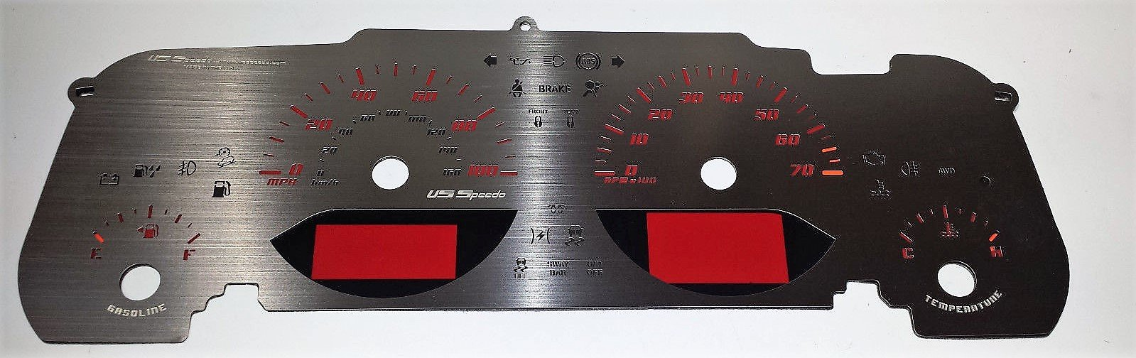 US Speedo STAINLESS STEEL JEEP WRANGLER RED COLOR BAND GAUGE FACE FOR 2008-2013