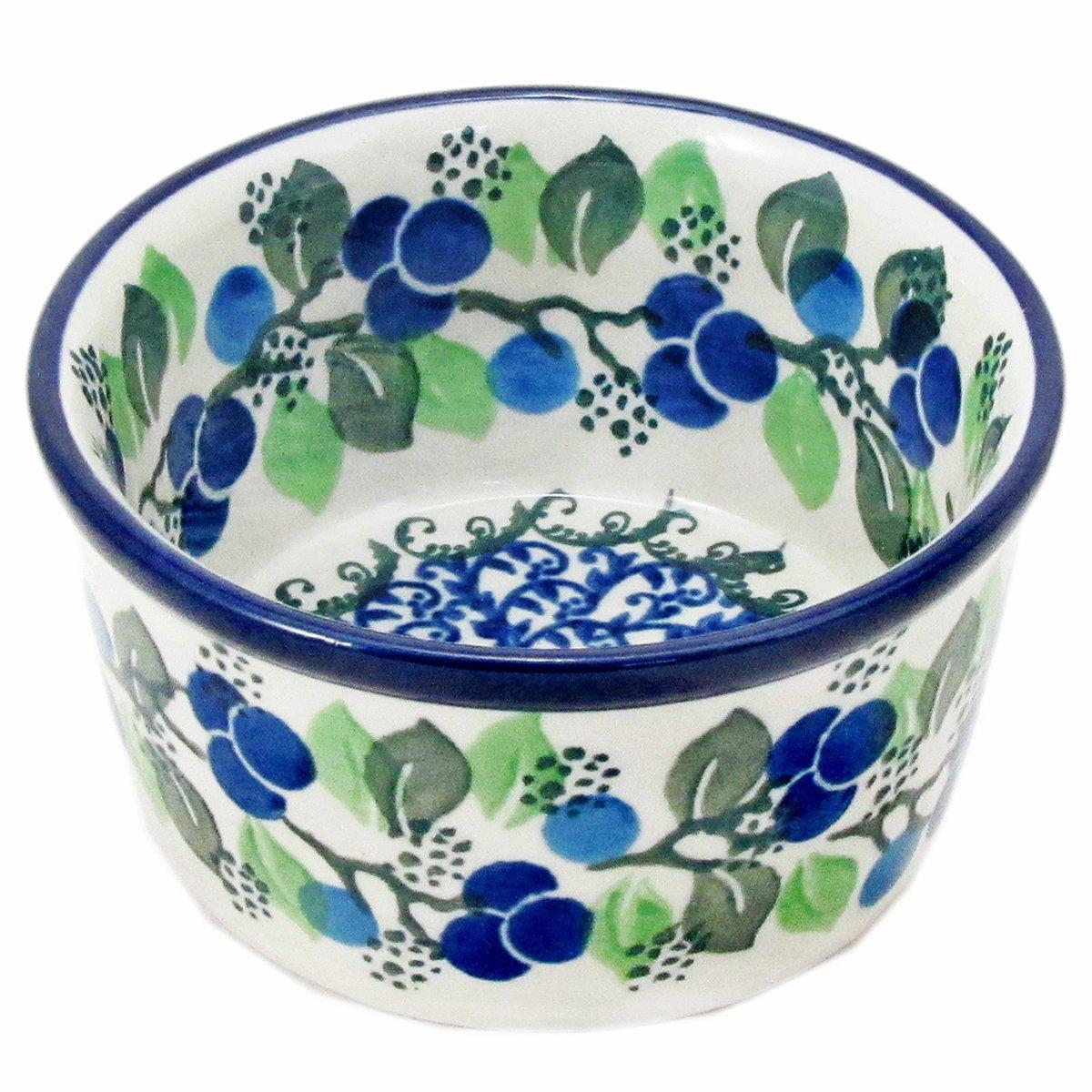 Polish Pottery 3.5'' Casual Handmade Ramekin 409- Blueberries by Polish Pottery Boleslawiec (Image #1)