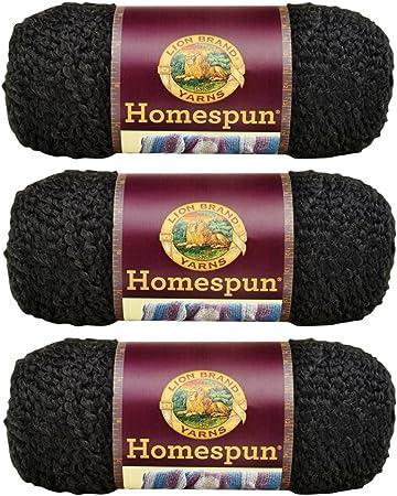 Pack of 3 skeins Rococo Lion Brand Yarn 790-311 Homespun Yarn