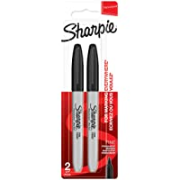 Sharpie Permanent Markers, Fine Tip, Black, Pack of 2