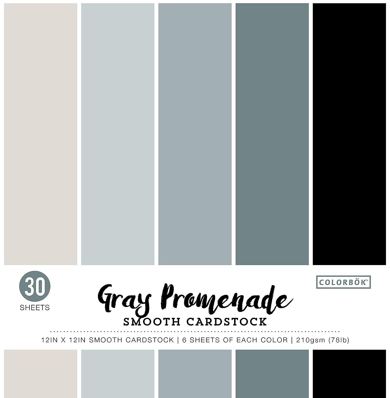 Colorbok Smooth Cardstock Paper Pad 12 x 12 Blue Promenade