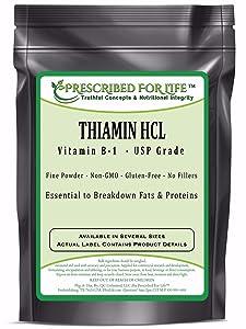 Thiamin HCL USP Grade Vitamin B-1 Powder, 12 oz