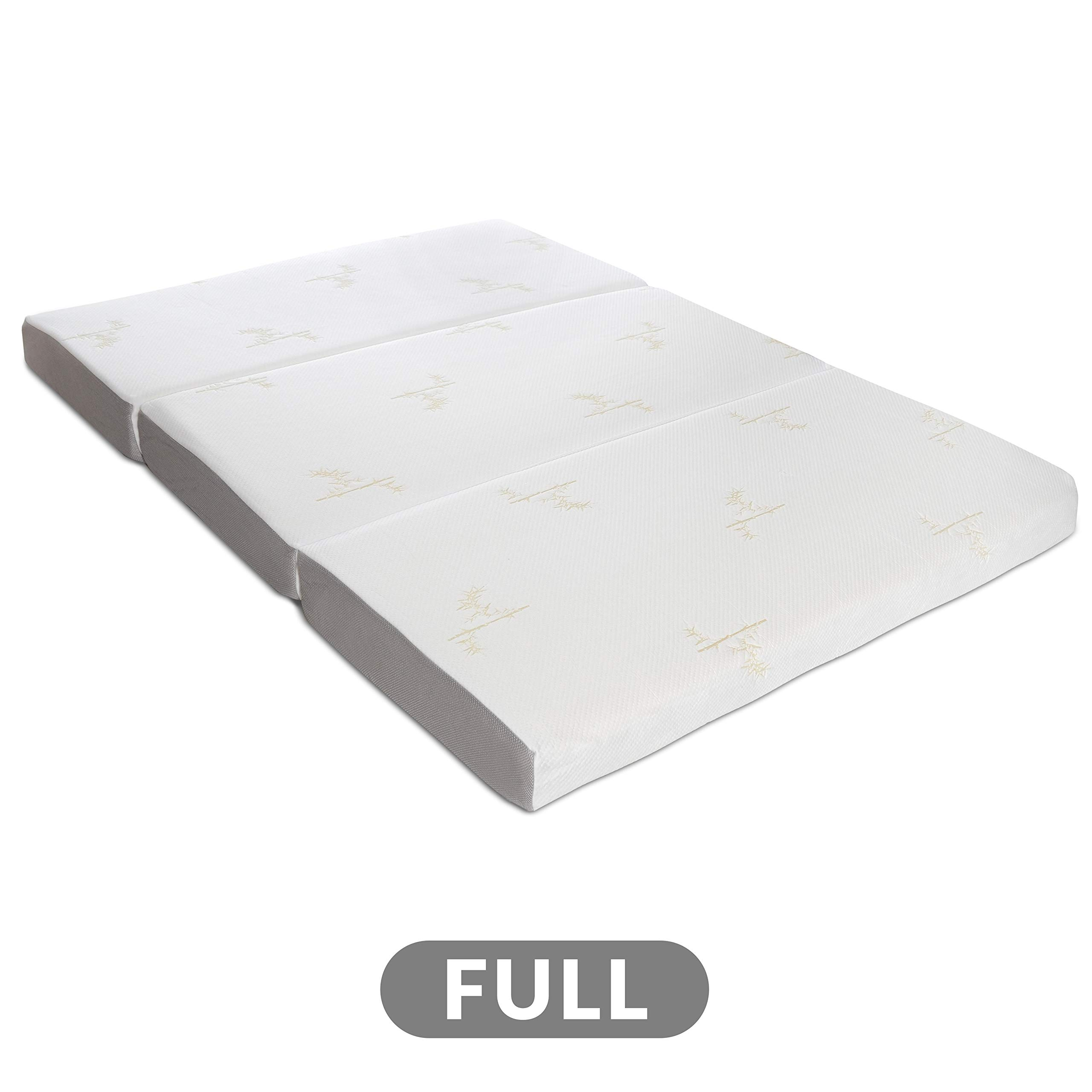 Milliard Tri Folding Memory Foam Mattress with Washable Cover Full (73 inches x 52 inches x 6 inches) by Milliard