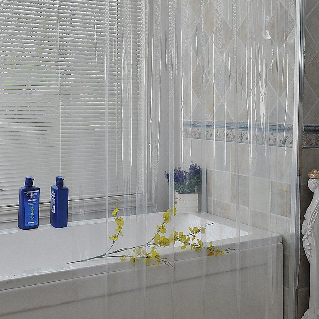 ZfgG Rideau de Douche épais PVC Transparent Rideau Rideau imperméable Rideau de séparation Rideau de climatisation (Taille : 120cmx180cm)