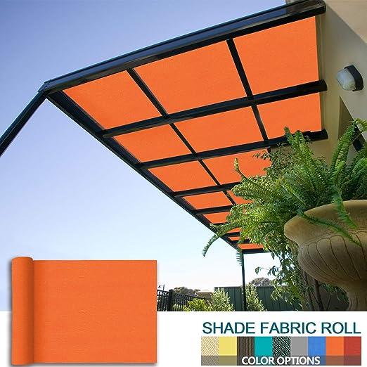 Coarbor - Pérgola de tela para sombra, de 40 x 2, 5 cm, para patio, proporciona sombra de tela, rollo de malla personalizado, resistente, proporciona privacidad permeable resistente a los rayos UV,