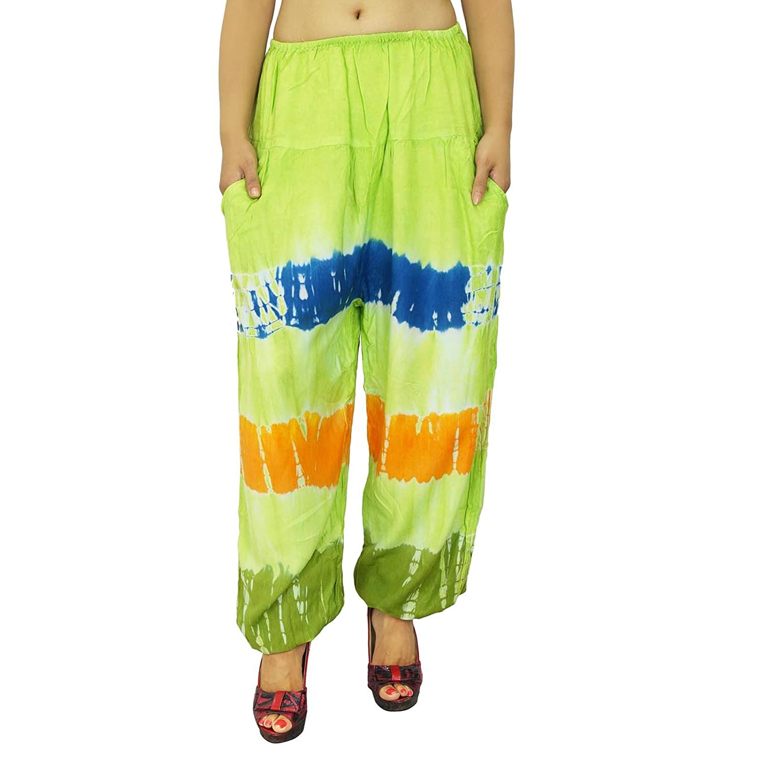 Frauen Rayon Pyjamas Hosen Pant Gypsy Bottoms Indian Summer Wear Pyjamas