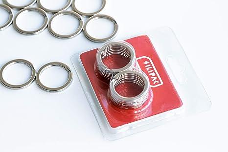 Amazon.com: Silipac - Llavero de metal resistente de acero ...