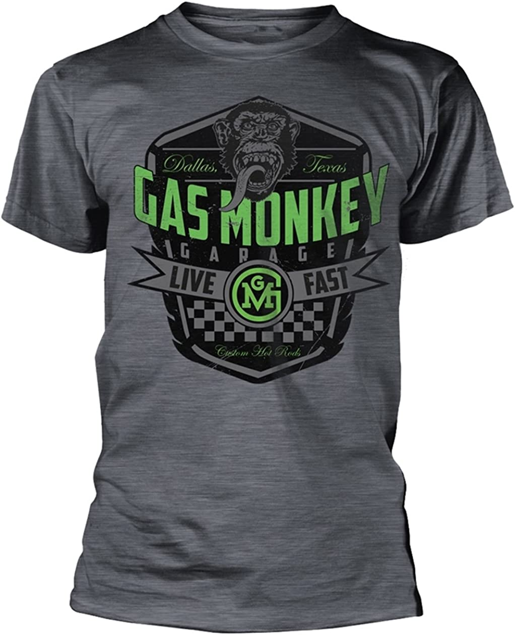 Gas Monkey Garage Live Fast (Gris) Camiseta: Amazon.es: Ropa y ...