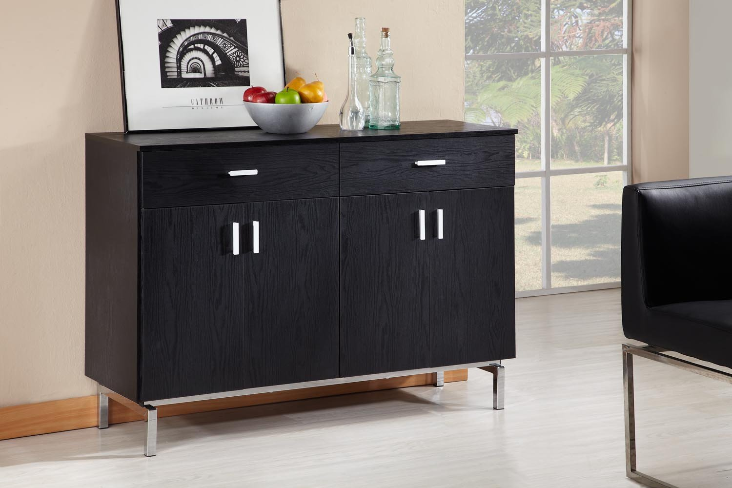ioHOMES Knox 2-Doors Buffet - Black