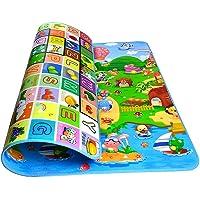 Alfombra de bebé 200x180x0.5cm, StillCool 2 lados juguetes Eductaional para niños, espuma suave