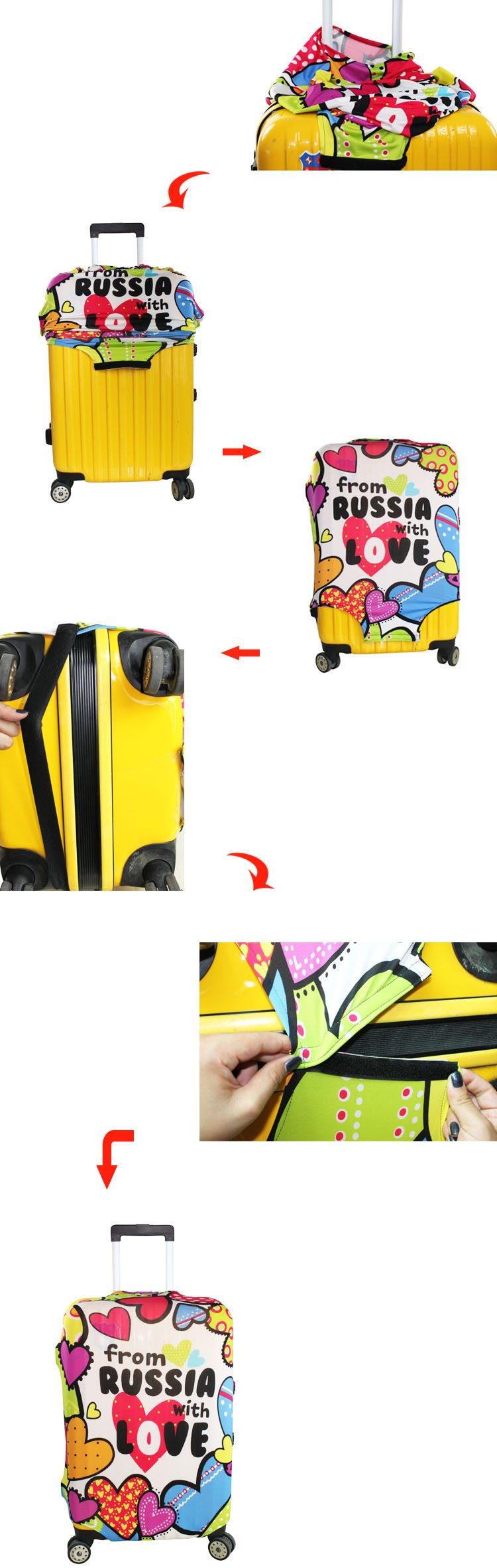 MyTrip Travel Luggage Suitcase Trolley Case Protective Bag Cover (20'' Peace bus) by MyTrip (Image #2)